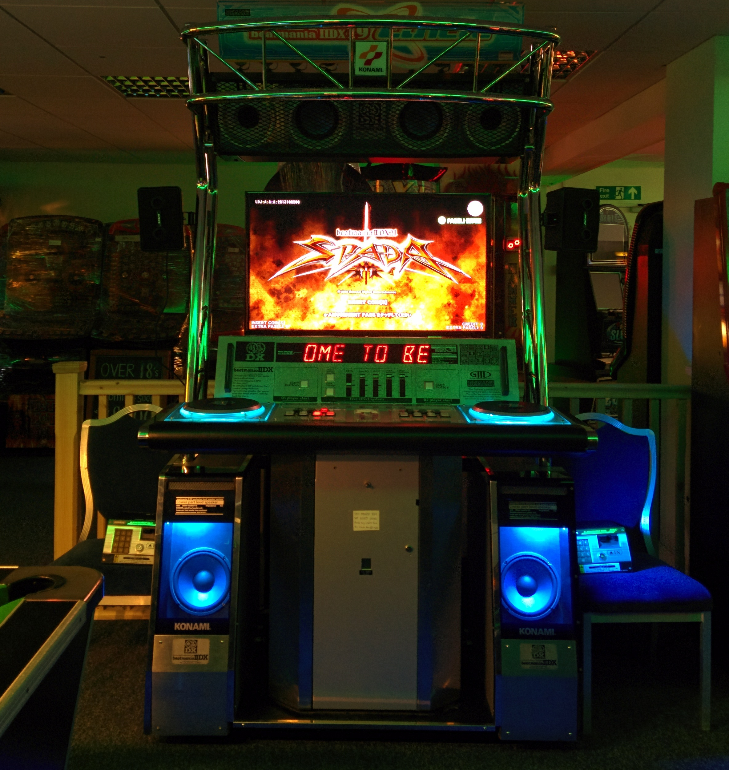 The oldest IIDX cabinet in Europe running SPADA (2014)